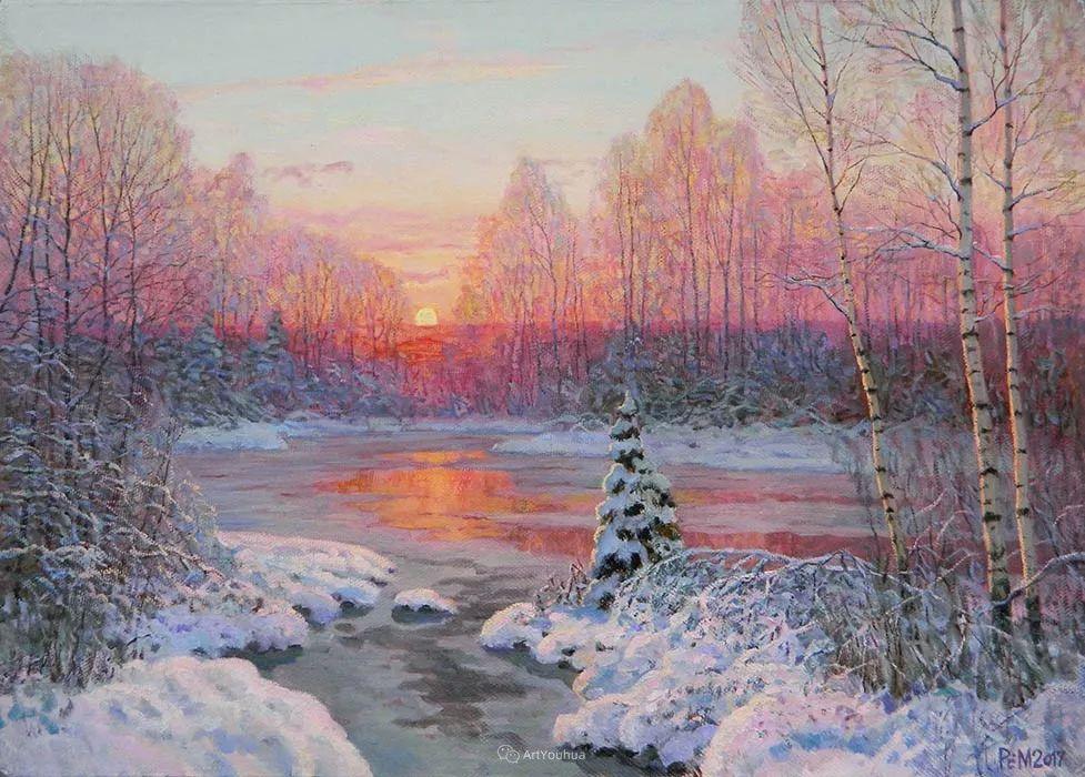 雪景油画 俄罗斯画家Rem Saifulmulukov插图37