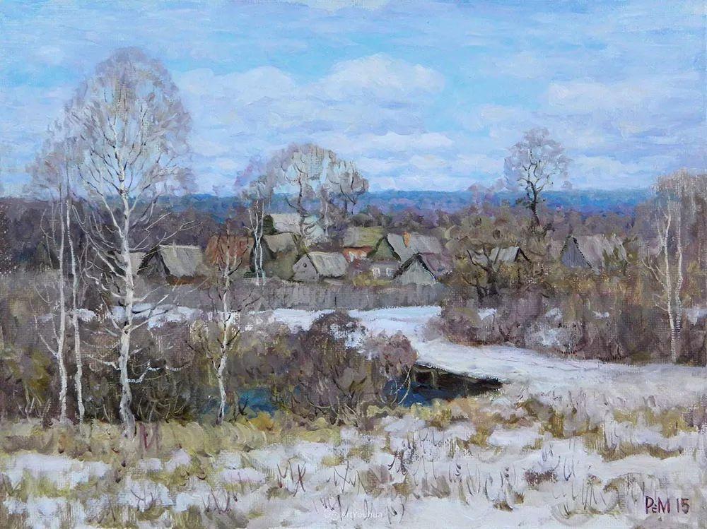 雪景油画 俄罗斯画家Rem Saifulmulukov插图45