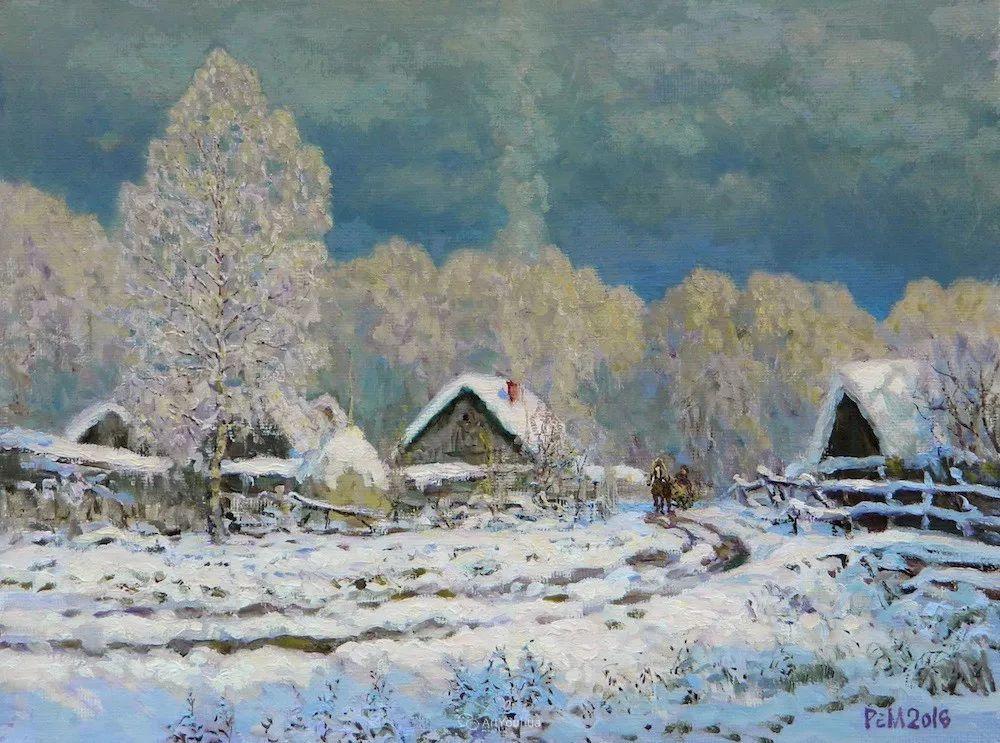 雪景油画 俄罗斯画家Rem Saifulmulukov插图47
