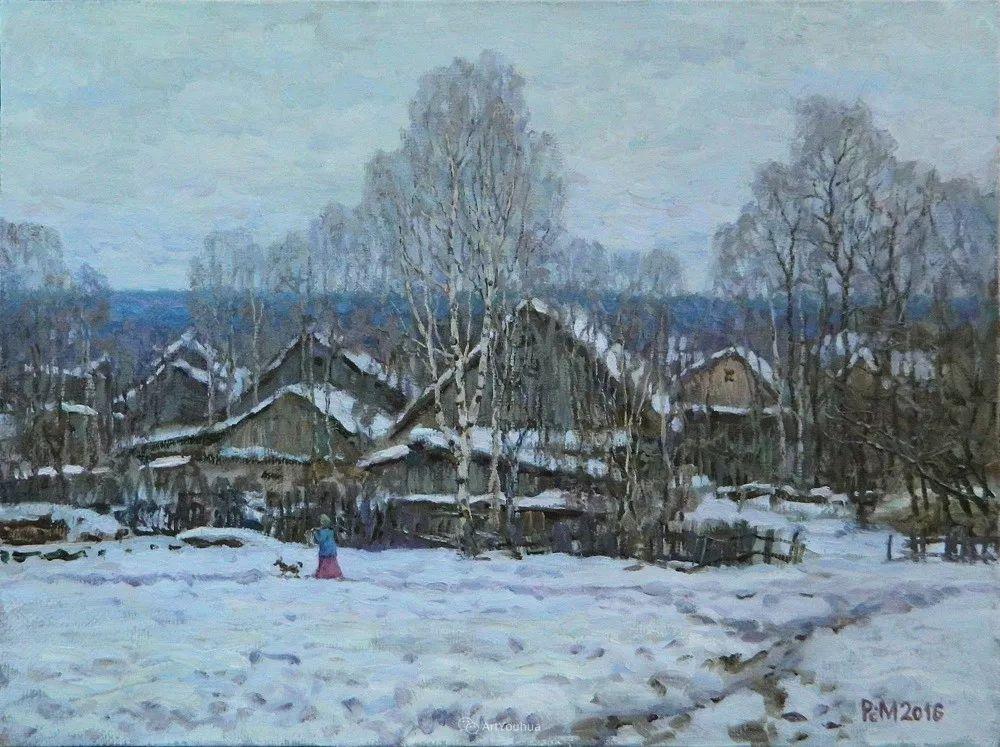 雪景油画 俄罗斯画家Rem Saifulmulukov插图49