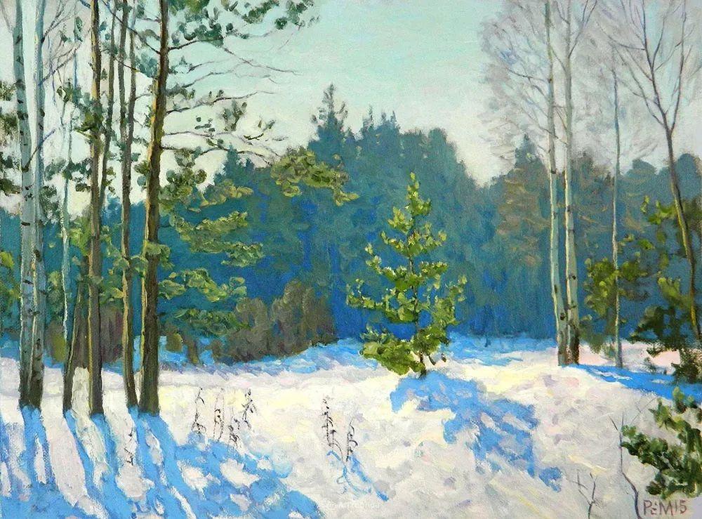 雪景油画 俄罗斯画家Rem Saifulmulukov插图51