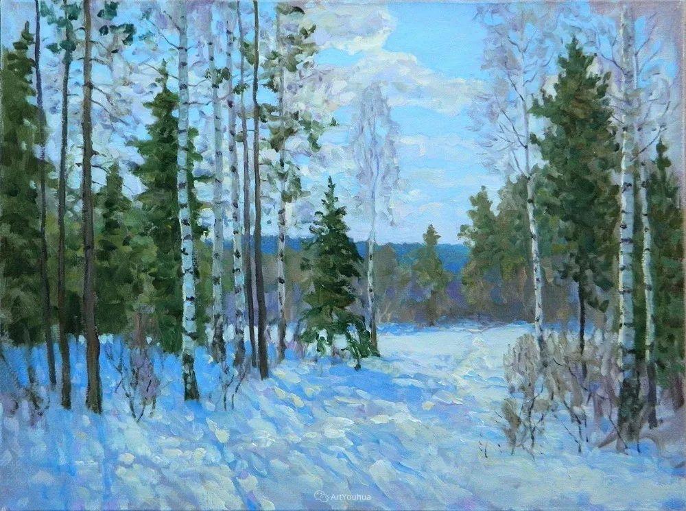 雪景油画 俄罗斯画家Rem Saifulmulukov插图55