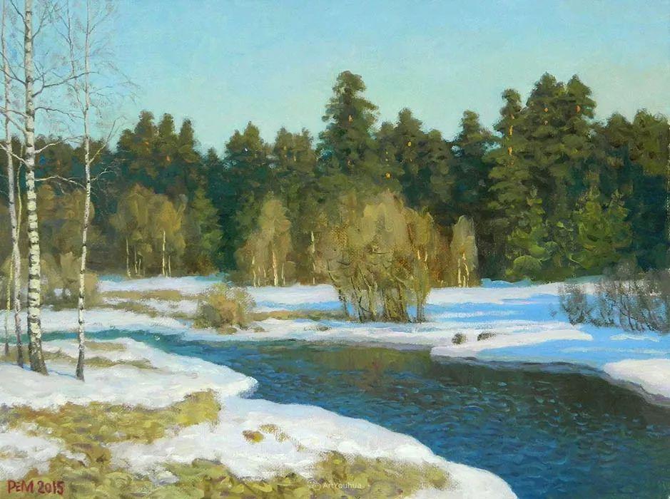 雪景油画 俄罗斯画家Rem Saifulmulukov插图59