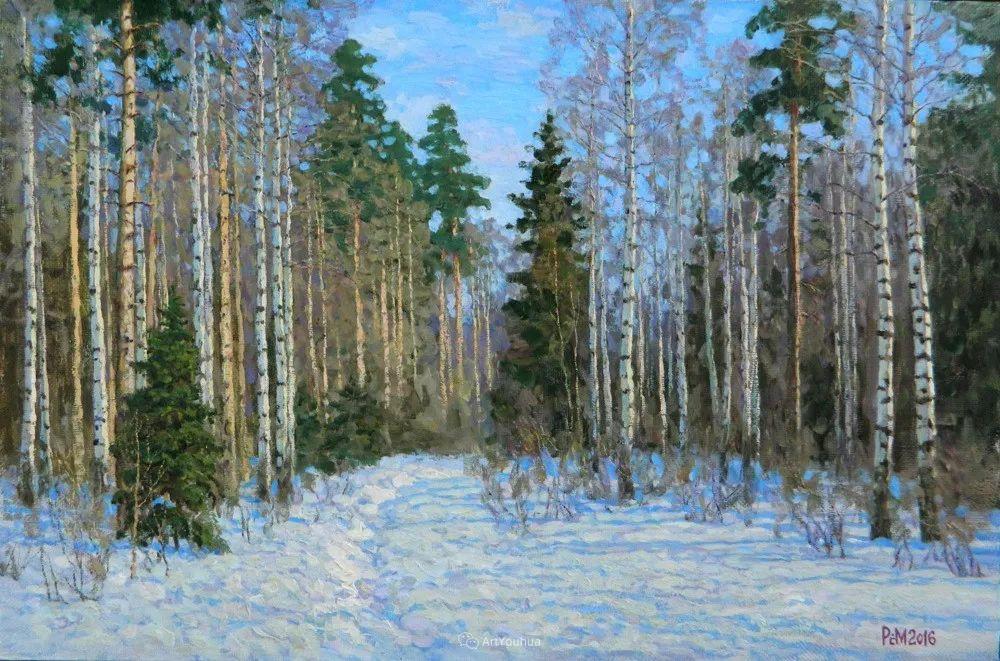 雪景油画 俄罗斯画家Rem Saifulmulukov插图61
