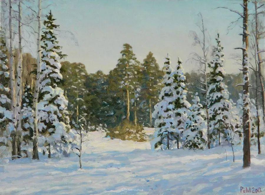 雪景油画 俄罗斯画家Rem Saifulmulukov插图63