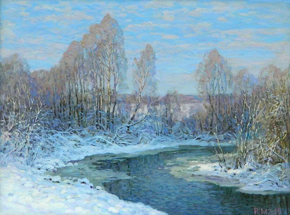 雪景油画 俄罗斯画家Rem Saifulmulukov插图65