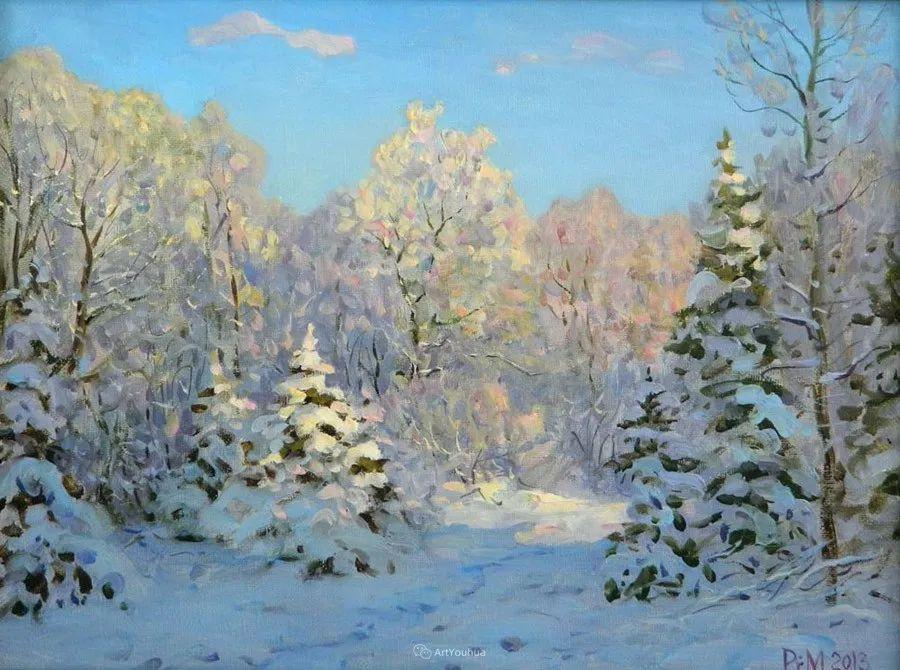 雪景油画 俄罗斯画家Rem Saifulmulukov插图69