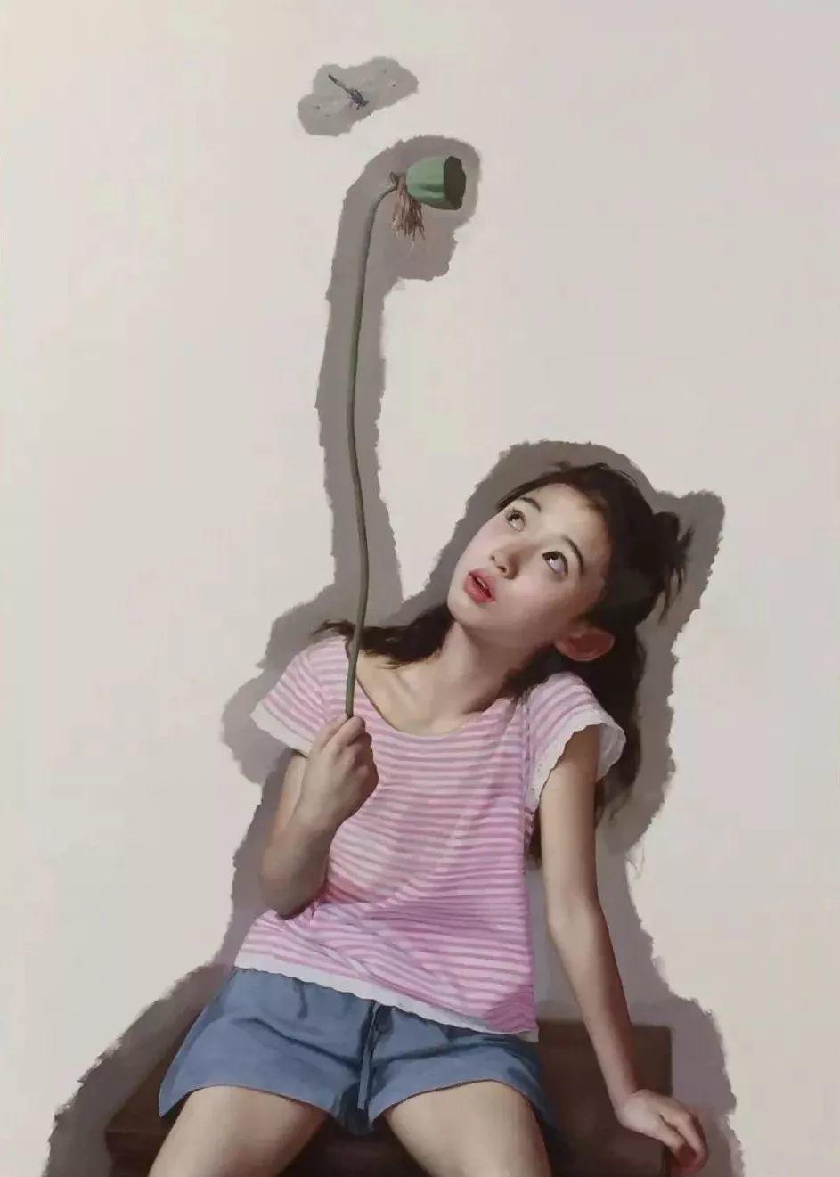 35年专注画青春美少女,最贵画作卖708万插图33