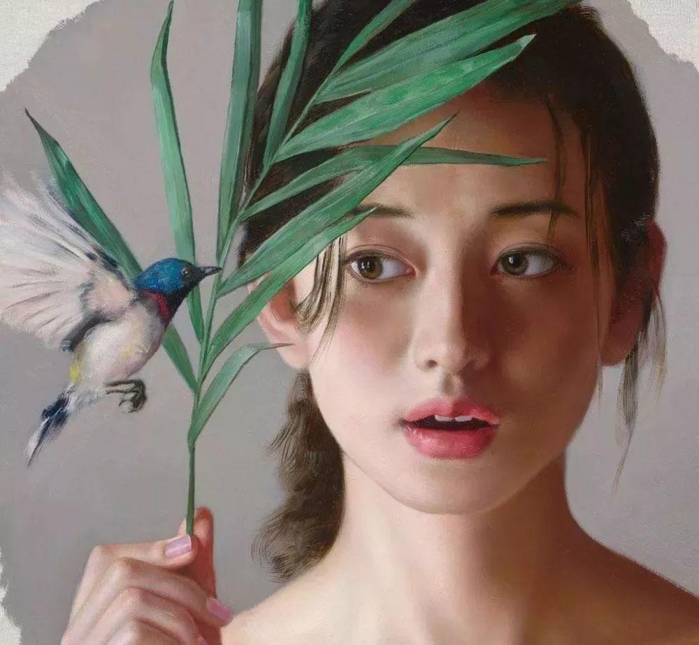 35年专注画青春美少女,最贵画作卖708万插图45