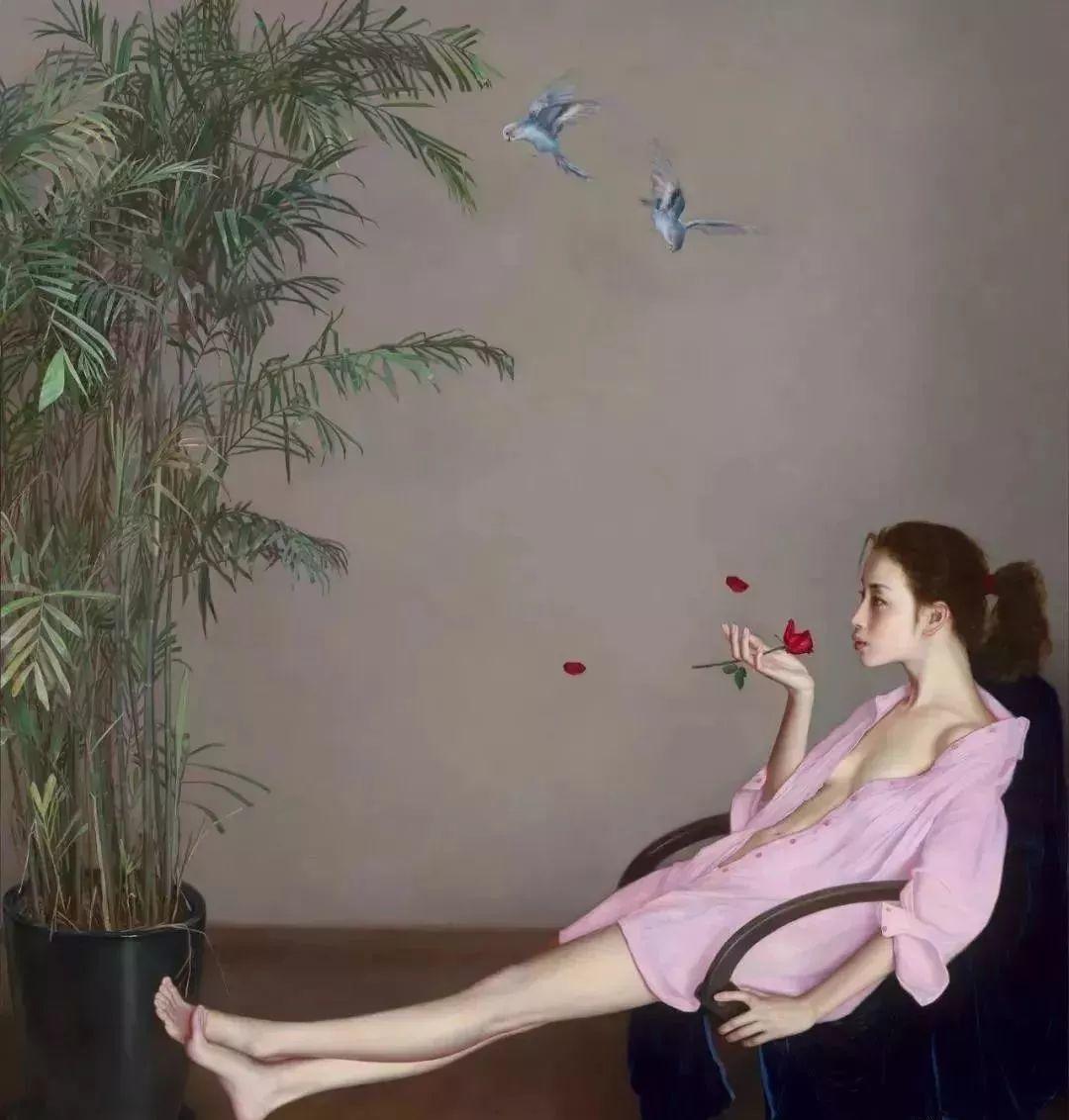 35年专注画青春美少女,最贵画作卖708万插图61