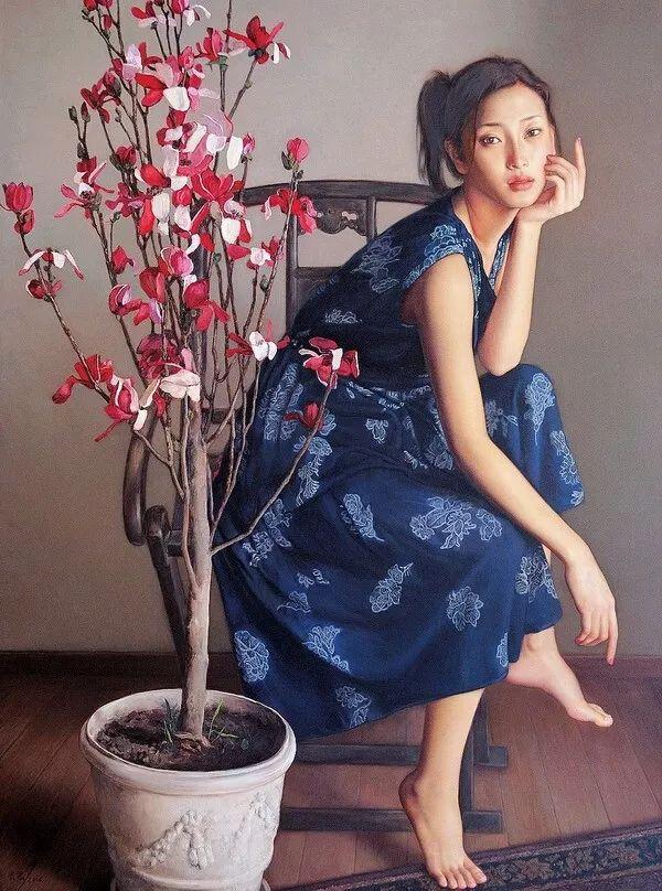 35年专注画青春美少女,最贵画作卖708万插图147