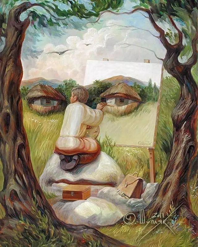 双重视错觉绘画艺术——奥列格·舒皮克作品欣赏插图45