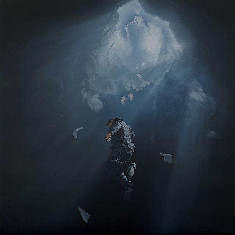 他第一次举办画展,就引起了轰动, 作品都被抢购一空!插图14