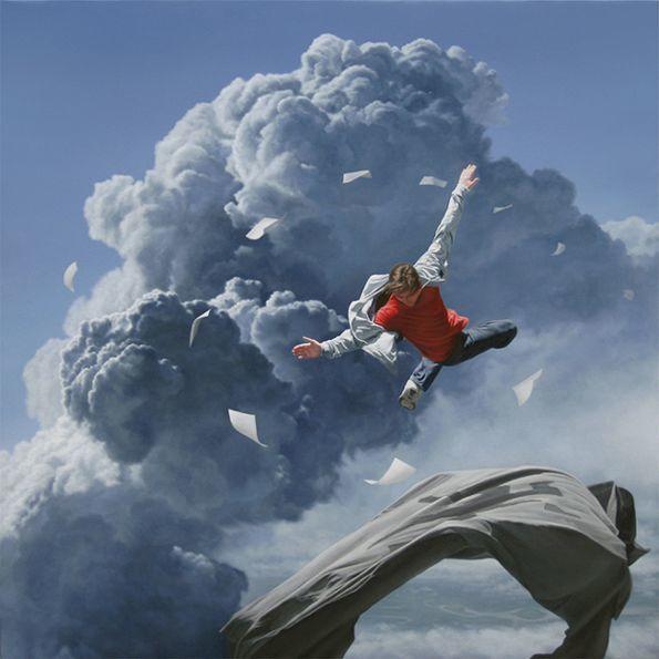 他第一次举办画展,就引起了轰动, 作品都被抢购一空!插图42
