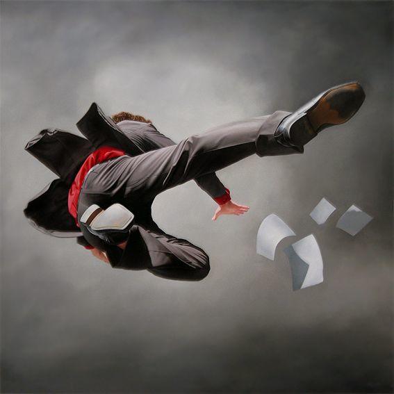 他第一次举办画展,就引起了轰动, 作品都被抢购一空!插图43