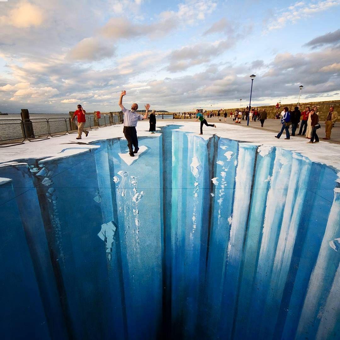 好玩又震撼,效果真实到你怀疑人生的3D街头艺术!插图