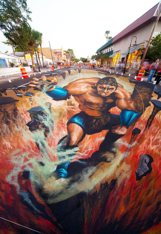 好玩又震撼,效果真实到你怀疑人生的3D街头艺术!插图5