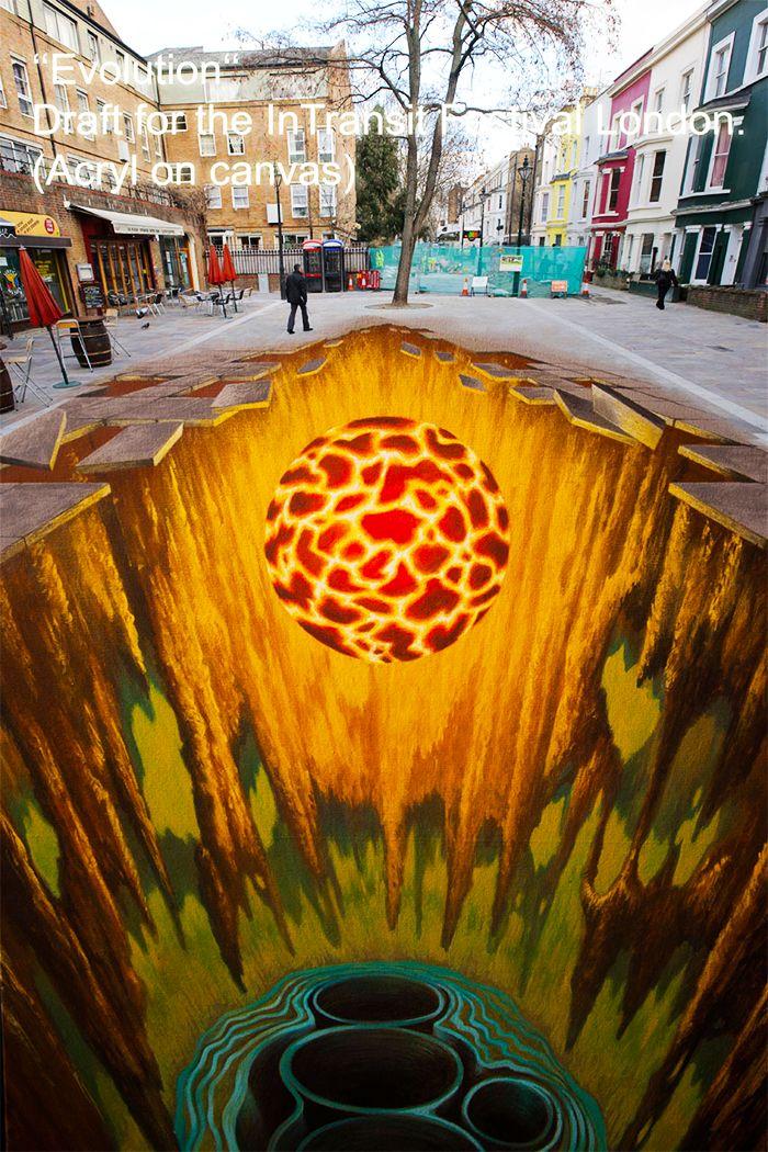 好玩又震撼,效果真实到你怀疑人生的3D街头艺术!插图6