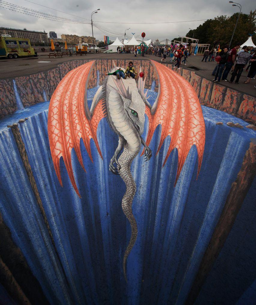 好玩又震撼,效果真实到你怀疑人生的3D街头艺术!插图8