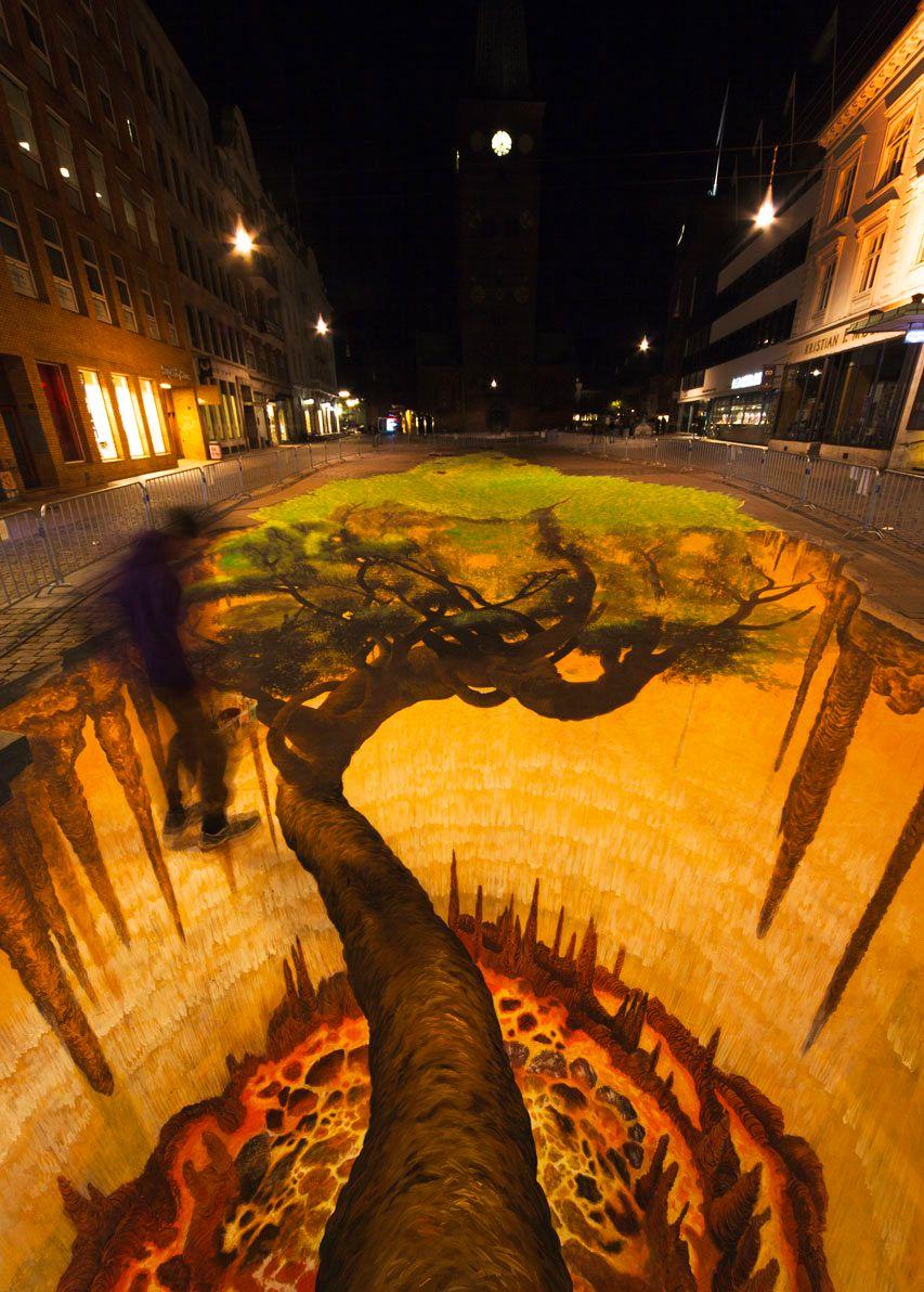 好玩又震撼,效果真实到你怀疑人生的3D街头艺术!插图10