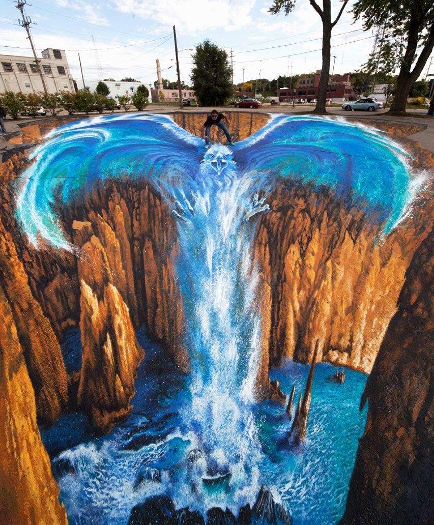 好玩又震撼,效果真实到你怀疑人生的3D街头艺术!插图11