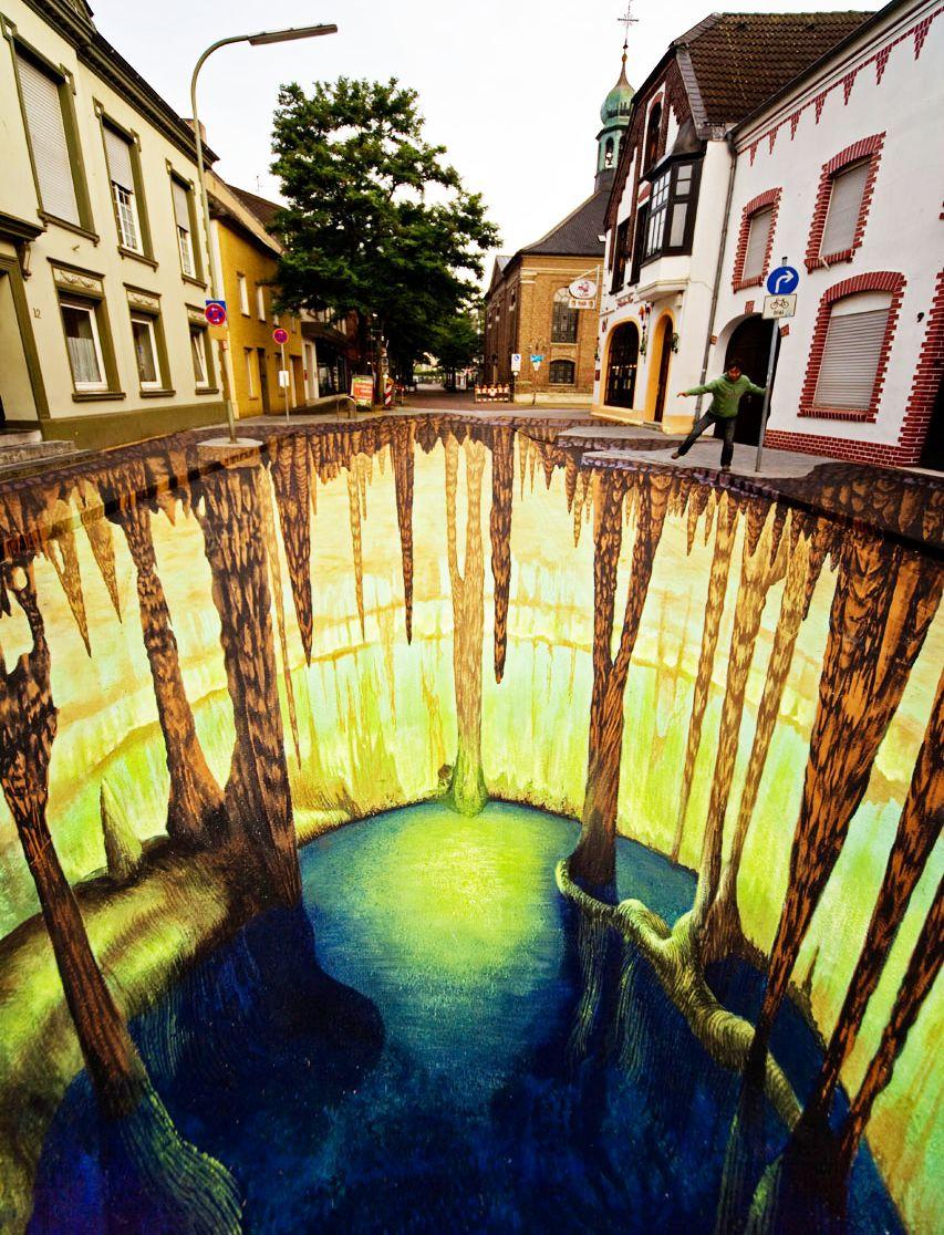 好玩又震撼,效果真实到你怀疑人生的3D街头艺术!插图13