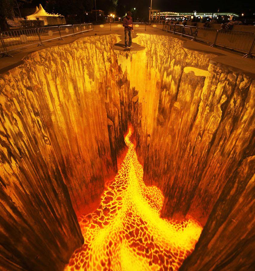 好玩又震撼,效果真实到你怀疑人生的3D街头艺术!插图14