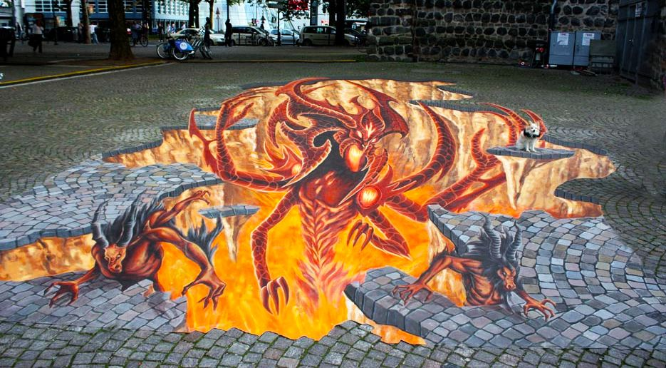 好玩又震撼,效果真实到你怀疑人生的3D街头艺术!插图25