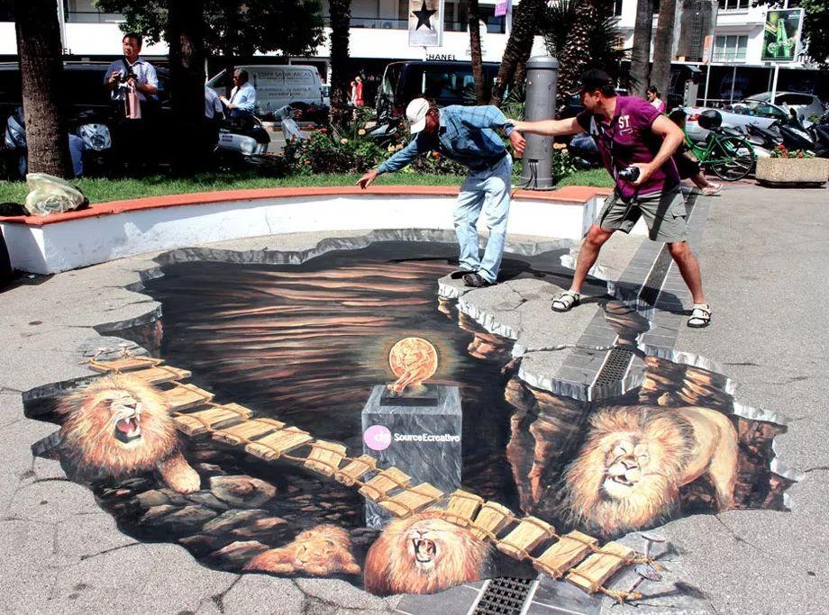 好玩又震撼,效果真实到你怀疑人生的3D街头艺术!插图26
