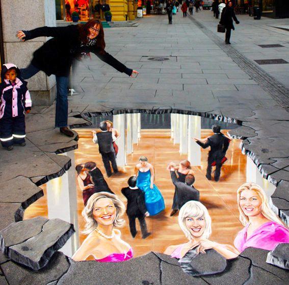 好玩又震撼,效果真实到你怀疑人生的3D街头艺术!插图28