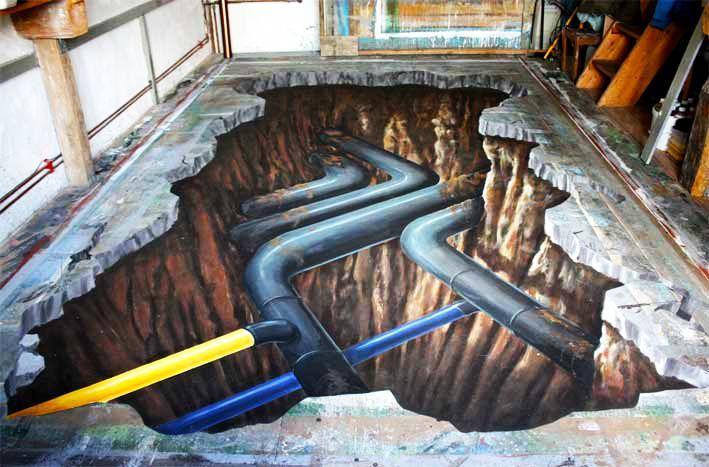 好玩又震撼,效果真实到你怀疑人生的3D街头艺术!插图32