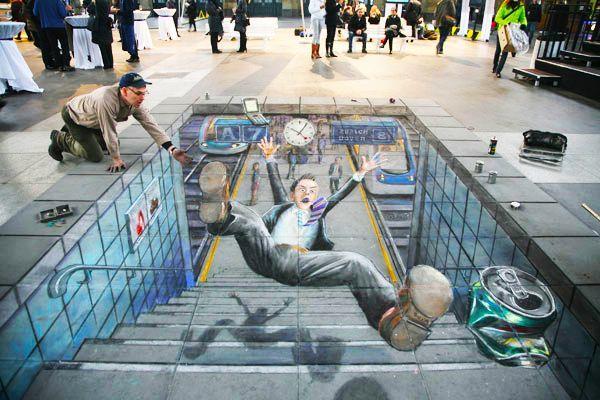 好玩又震撼,效果真实到你怀疑人生的3D街头艺术!插图55