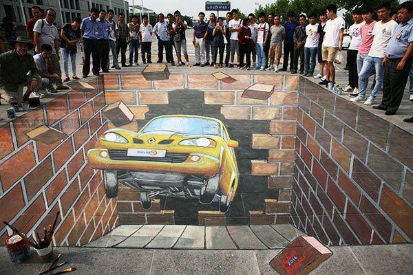 好玩又震撼,效果真实到你怀疑人生的3D街头艺术!插图57