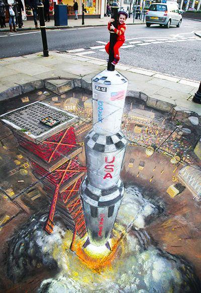 好玩又震撼,效果真实到你怀疑人生的3D街头艺术!插图58