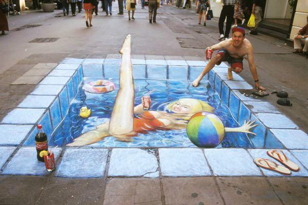 好玩又震撼,效果真实到你怀疑人生的3D街头艺术!插图61