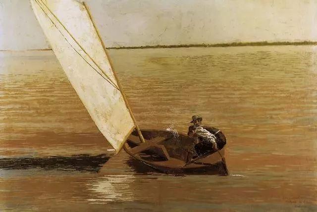 棕色调的现实主义绘画者 美国画家Thomas Eakins插图13