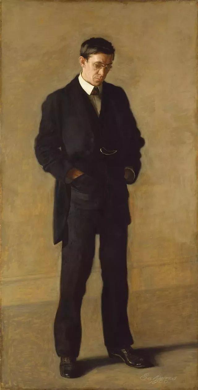 棕色调的现实主义绘画者 美国画家Thomas Eakins插图26