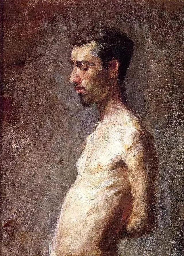 棕色调的现实主义绘画者 美国画家Thomas Eakins插图32