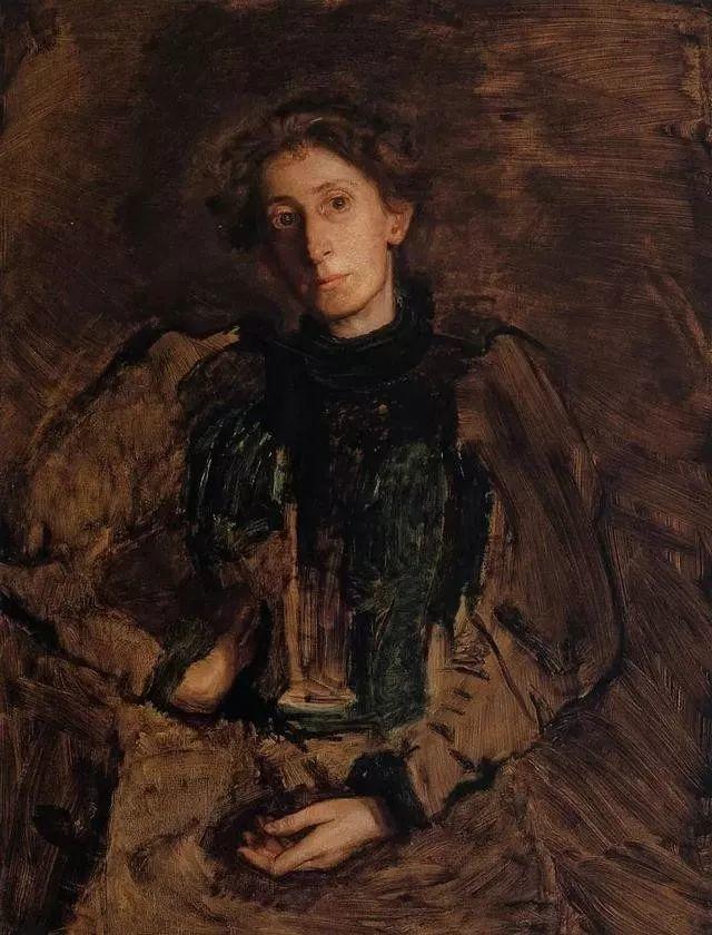 棕色调的现实主义绘画者 美国画家Thomas Eakins插图33