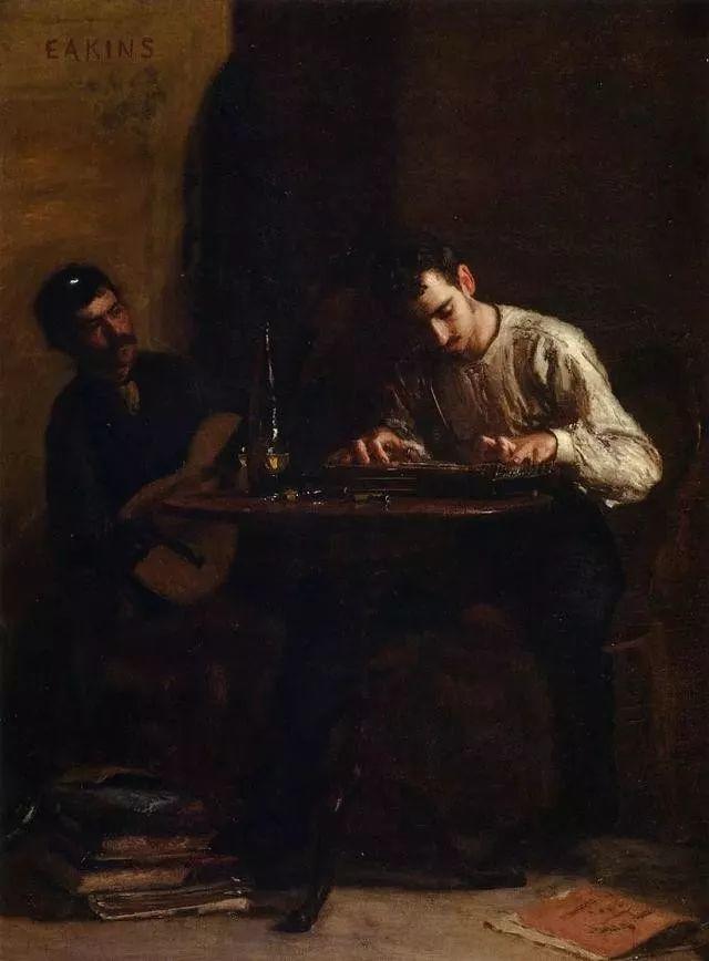 棕色调的现实主义绘画者 美国画家Thomas Eakins插图34