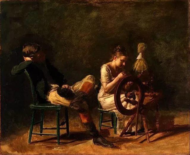 棕色调的现实主义绘画者 美国画家Thomas Eakins插图36