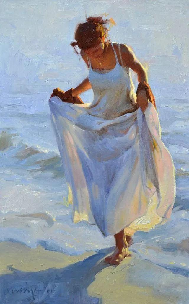 油画中的少女优雅恬静插图3