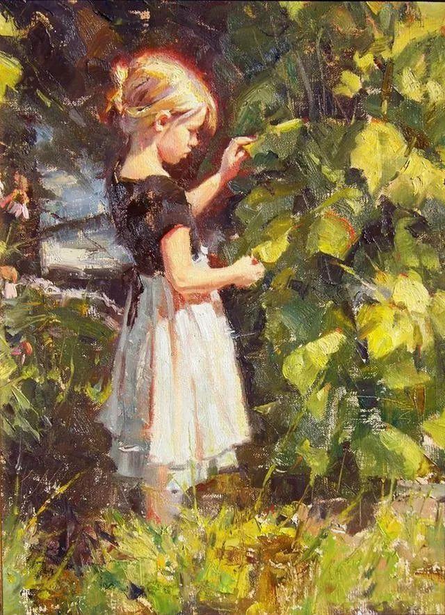 油画中的少女优雅恬静插图4