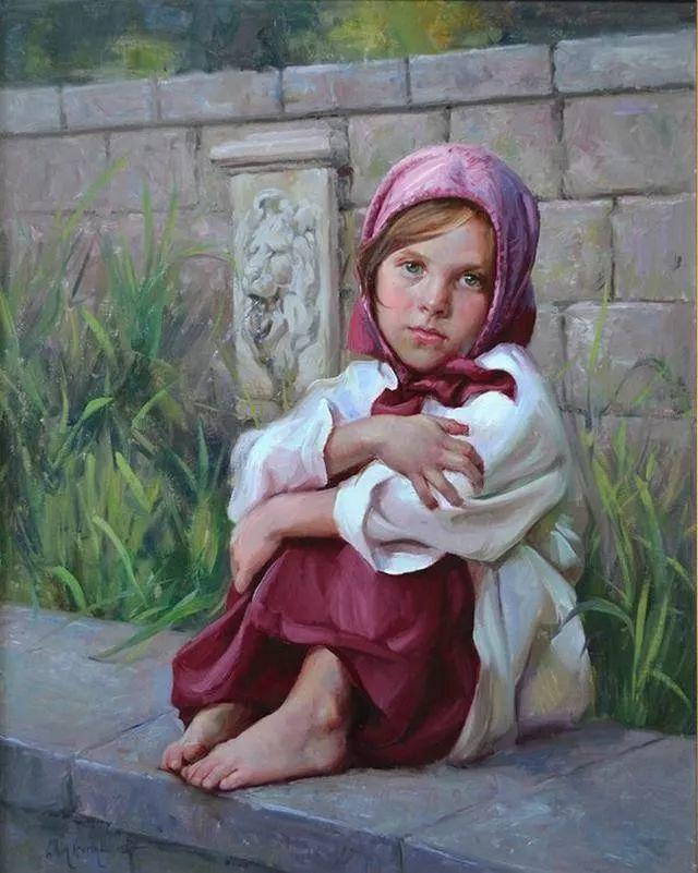 油画中的少女优雅恬静插图7