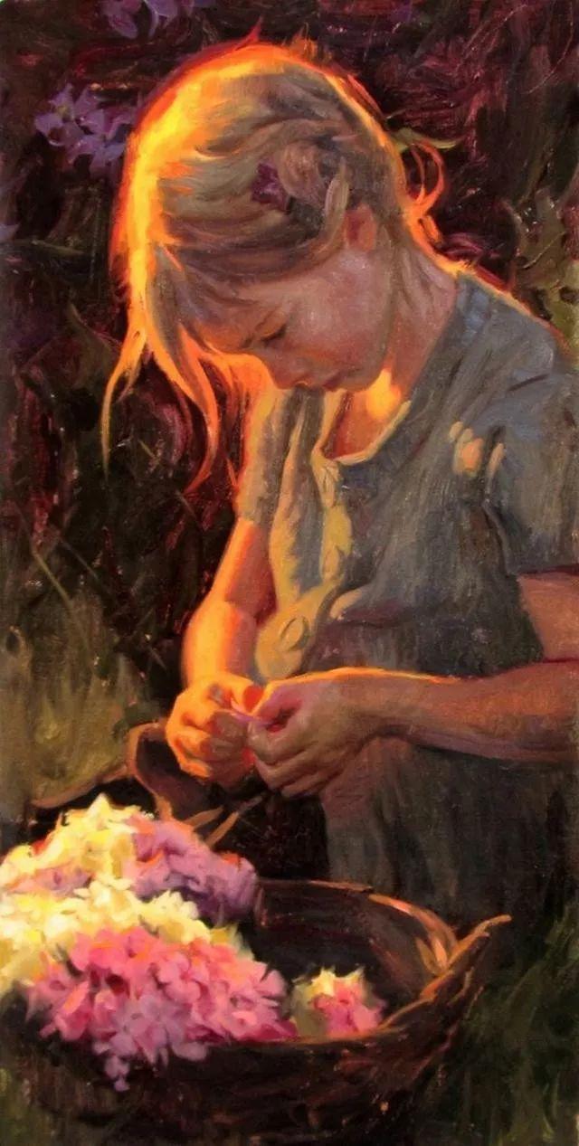 油画中的少女优雅恬静插图9