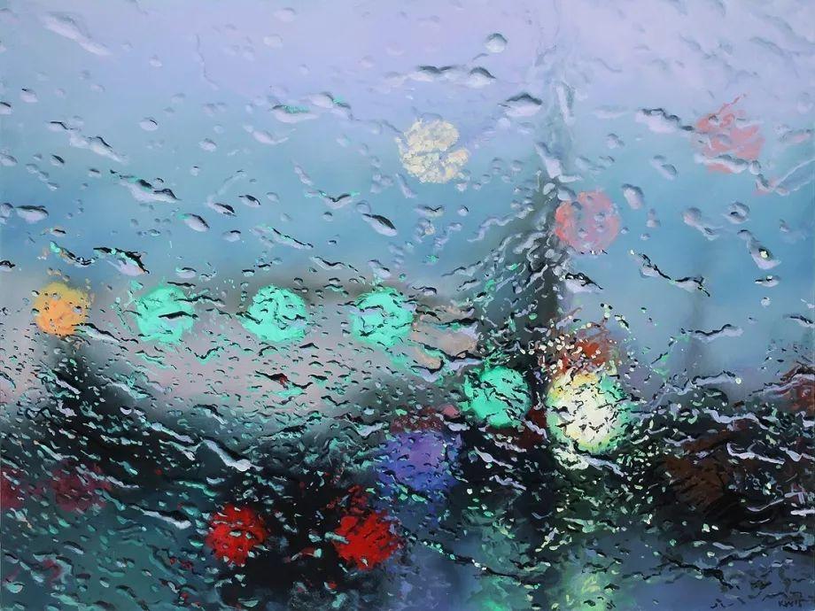 朦胧雨景,Karen Woods绘画作品插图3