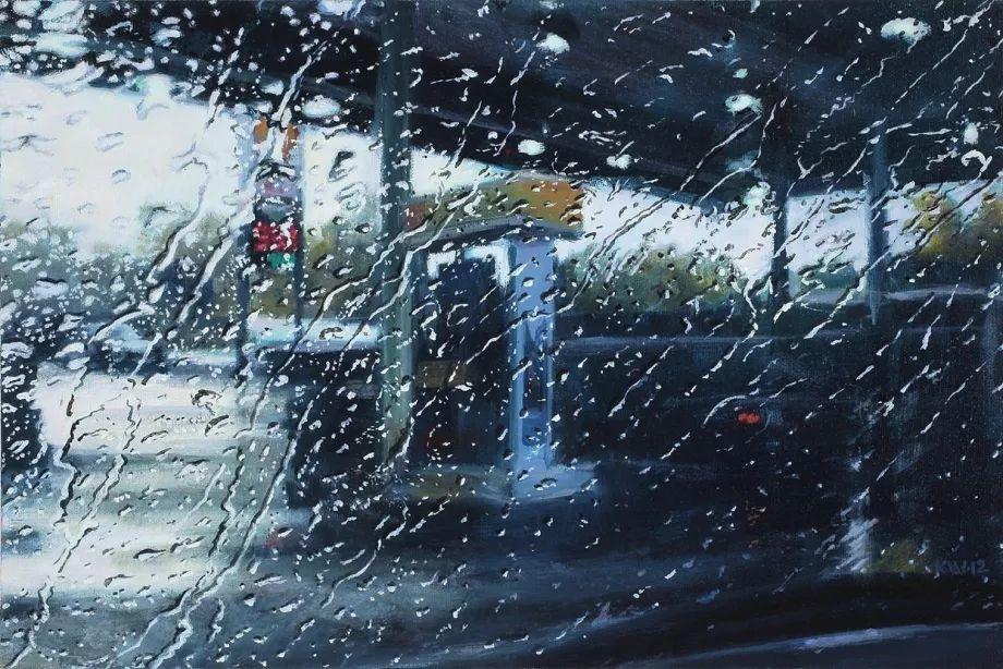 朦胧雨景,Karen Woods绘画作品插图5