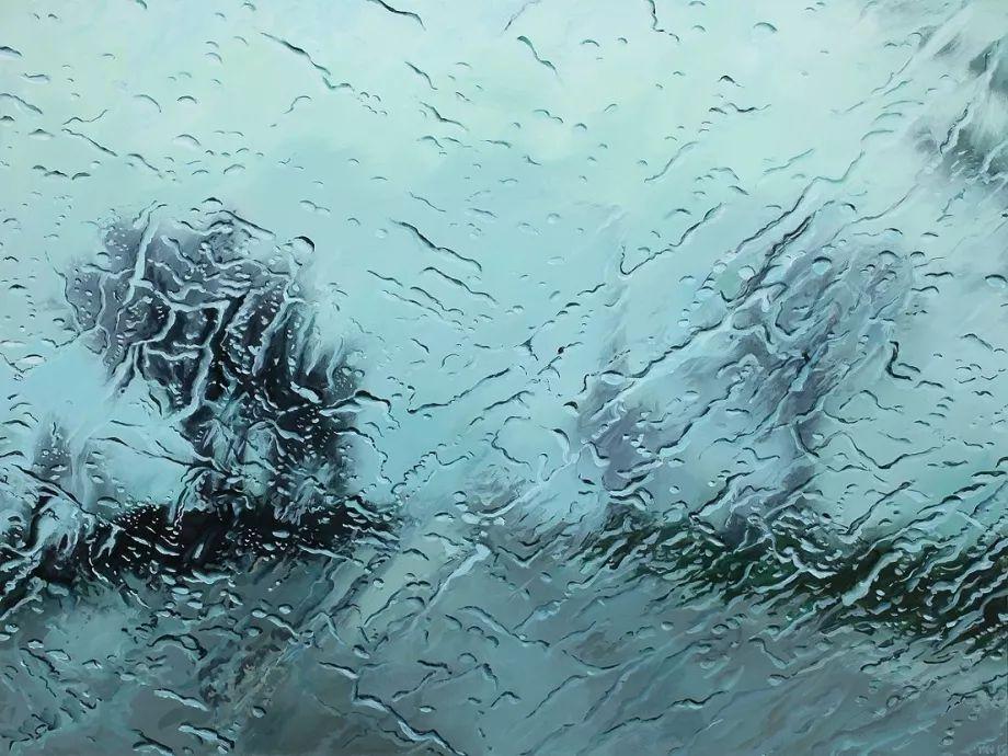 朦胧雨景,Karen Woods绘画作品插图7