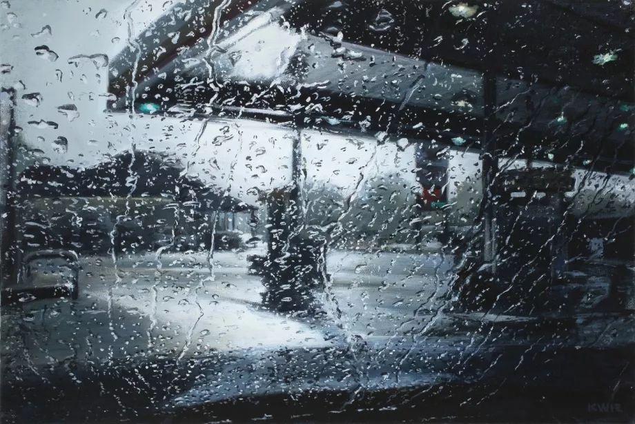 朦胧雨景,Karen Woods绘画作品插图9