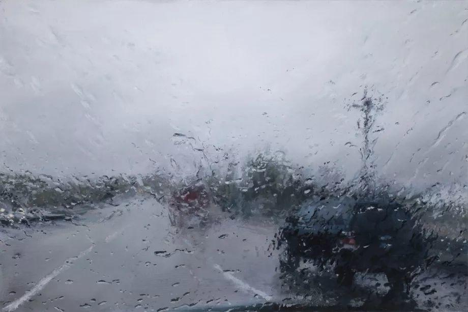 朦胧雨景,Karen Woods绘画作品插图11